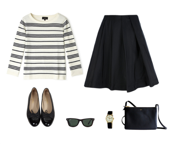 Apc Striped Top Jil Sander Navy Skirt