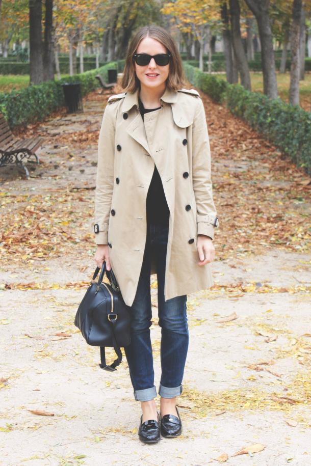 Burberry Trench Coat Louis Vuitton Bag Miu Miu Loafers