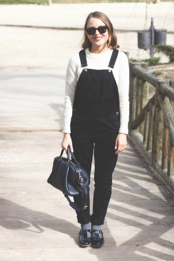 Topshop Overalls And Barbour Duffle Coat | Trini