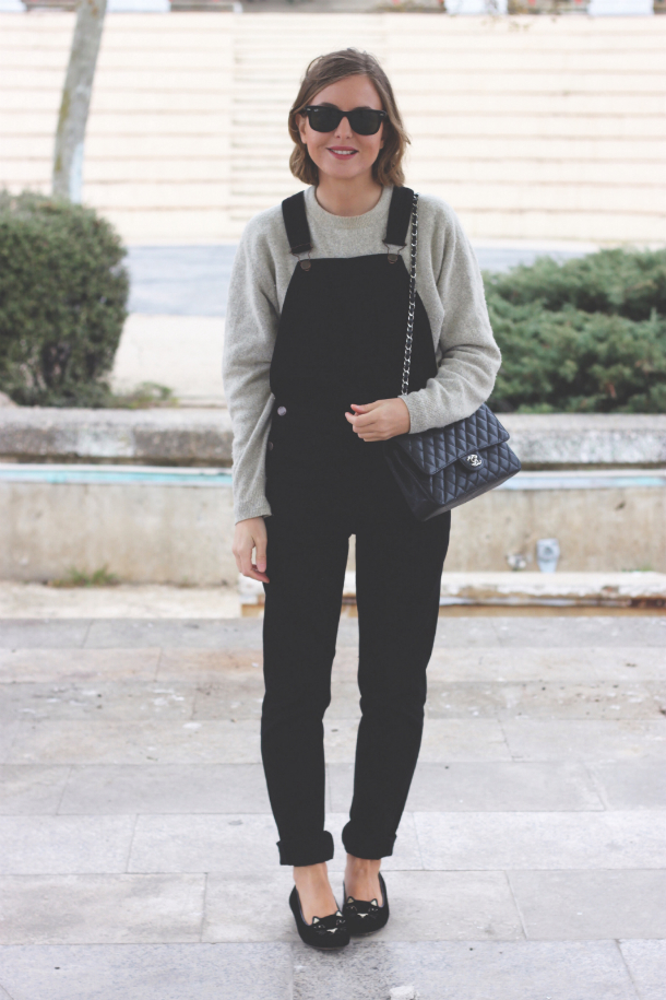 Topshop Dungarees Charlotte Olympia Kitty Flats