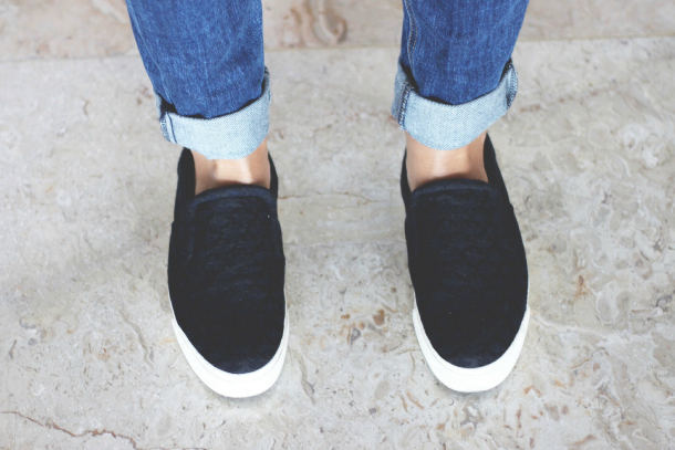 The Row For Superga Slip On Sneakers In Navy