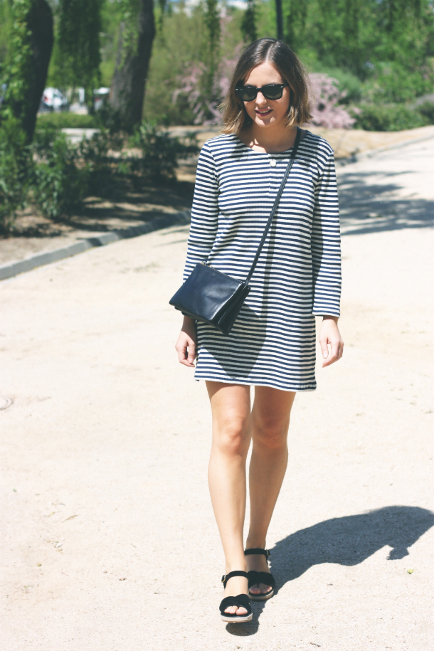 Apc Striped Dress Fashion Blogger Trini