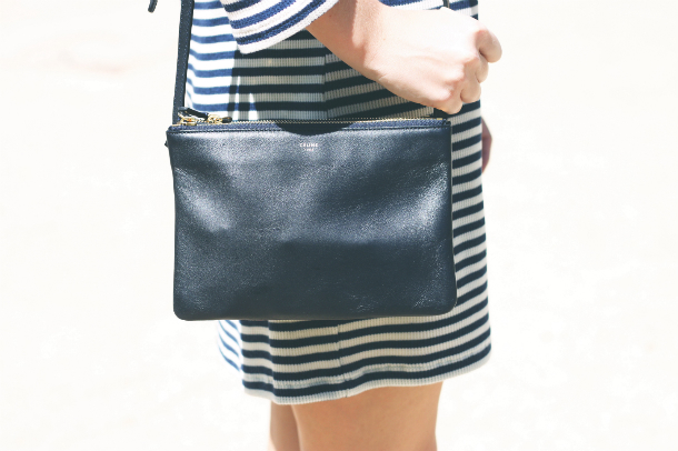 Celine Navy Trio Fashion Blogger Trini