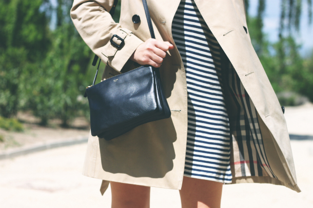 Striped Dress Classic Trench Fashion Blogger Trini