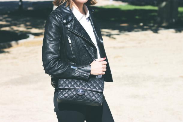 Fashion Blogger Trini The Kooples Leather Jacket
