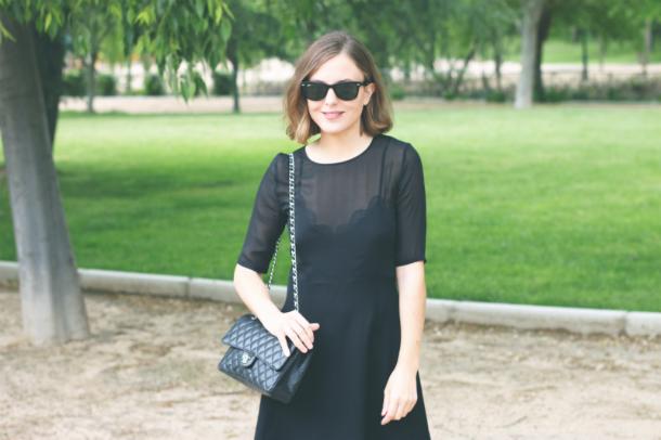 Fashion Blogger Trini Black Skater Dress