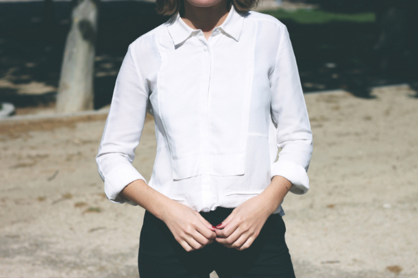 Fashion Blogger Trini The Kooples White Shirt