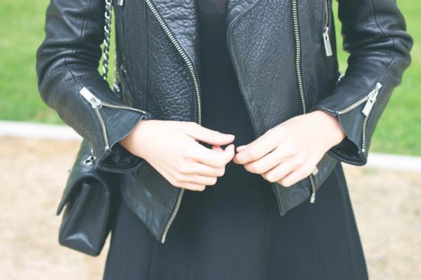 Fashion Blogger Trini Leather Jacket Details