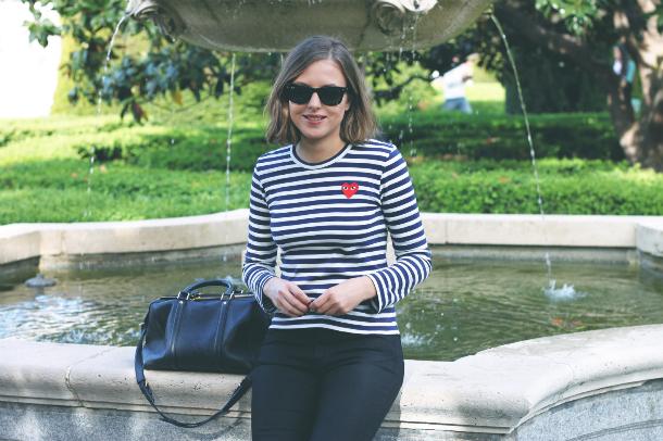 Fashion Blogger Trini Striped Top