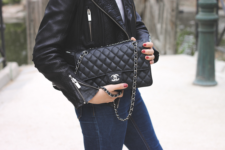 Chanel Flap Leather Jacket Trini