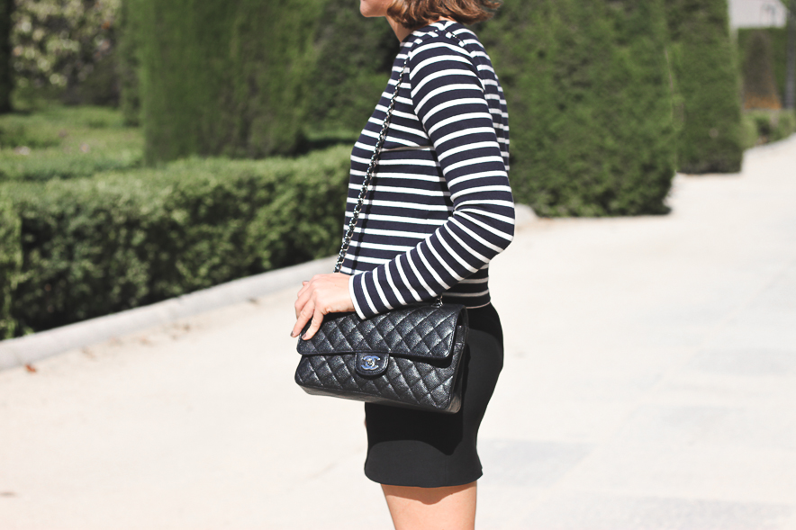 Trini Stripes Black Skirt Chanel bag