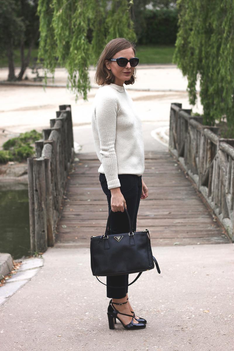 Trini Fashion Blogger Sandro Cream Pullover