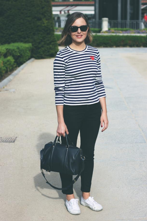 Fashion Blogger Trini Comme des Garçons Play Shirt Top