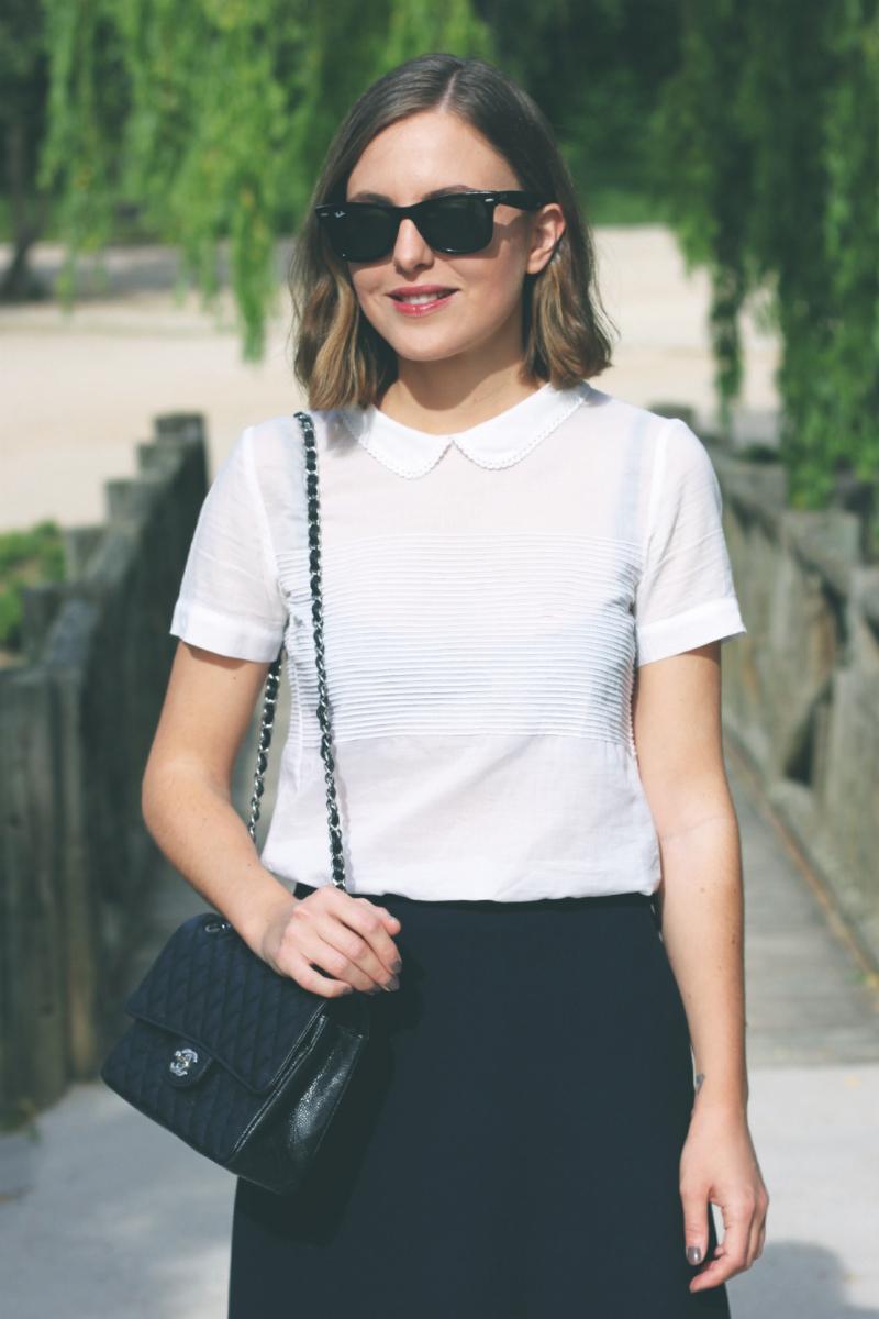 The Kooples white top fashion blogger Trini