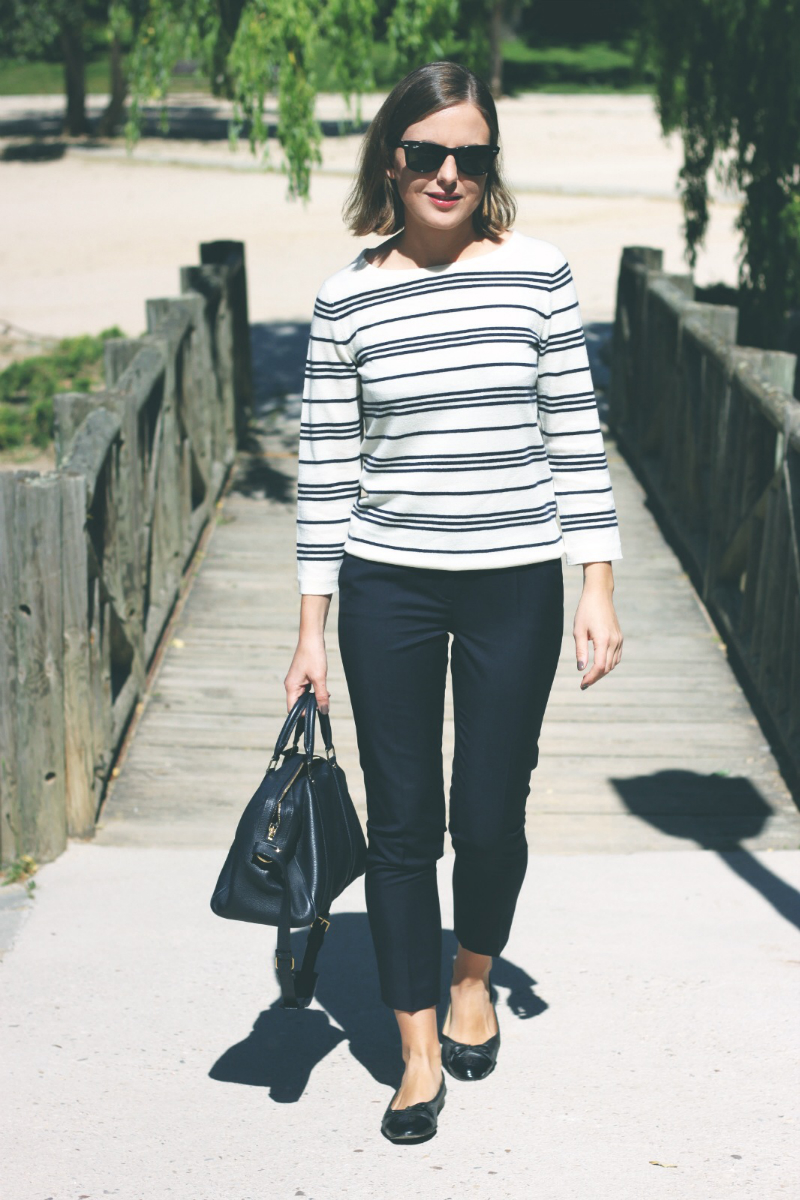 The Kooples Navy Trousers fashion blogger Trini