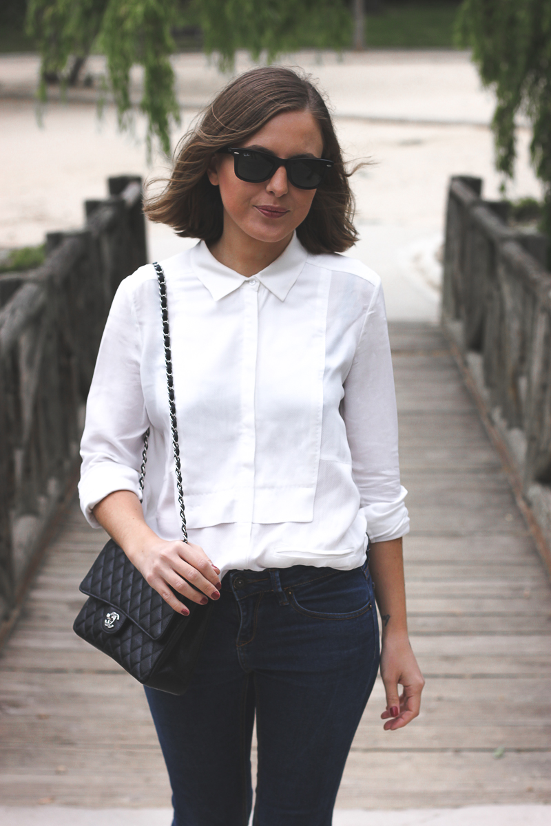 Trini white shirt jeans