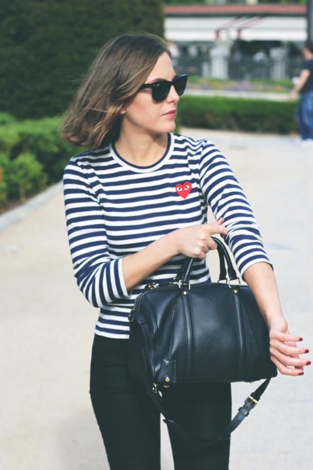 Fashion Blogger Trini Navy Stripes