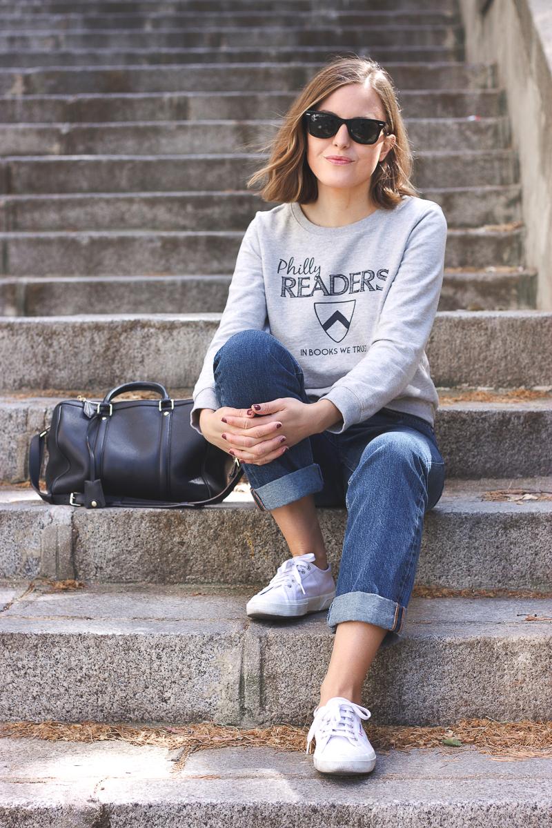 Trini Grey Sweatshirt Boyfriend Jeans