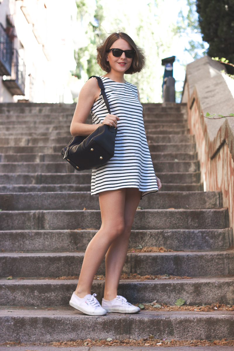 Trini striped dress white superga