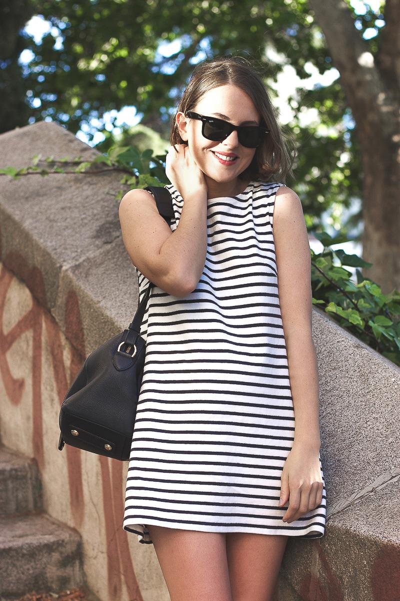 Trini Wood Wood striped dress