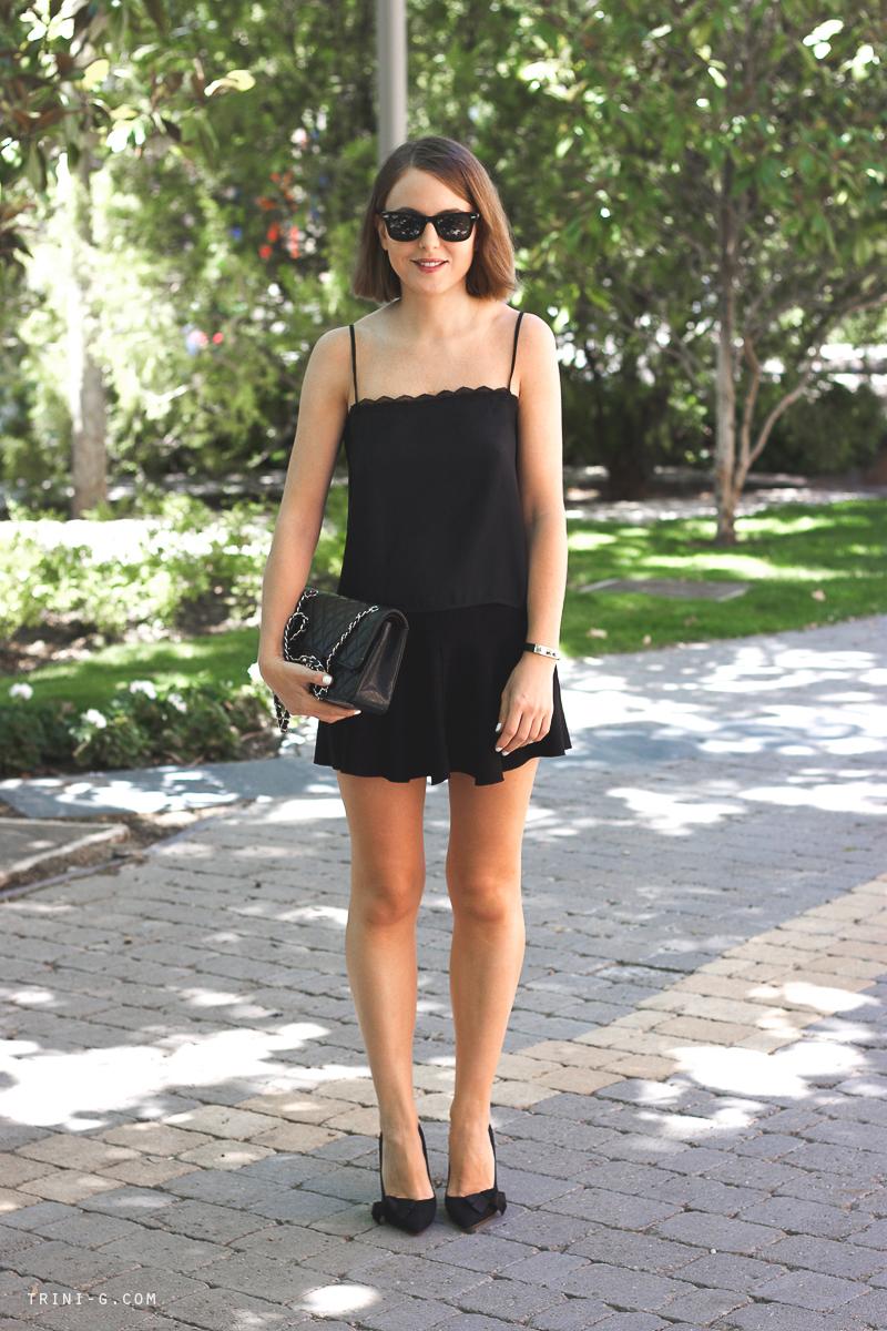 All Black summer outfit Fashion Blogger Trini