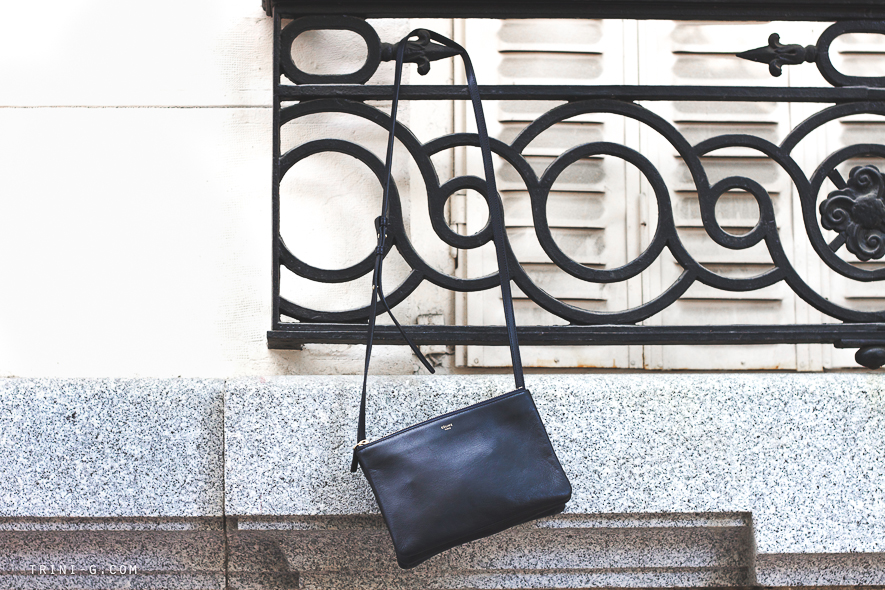 Celine navy trio bag Trini blog