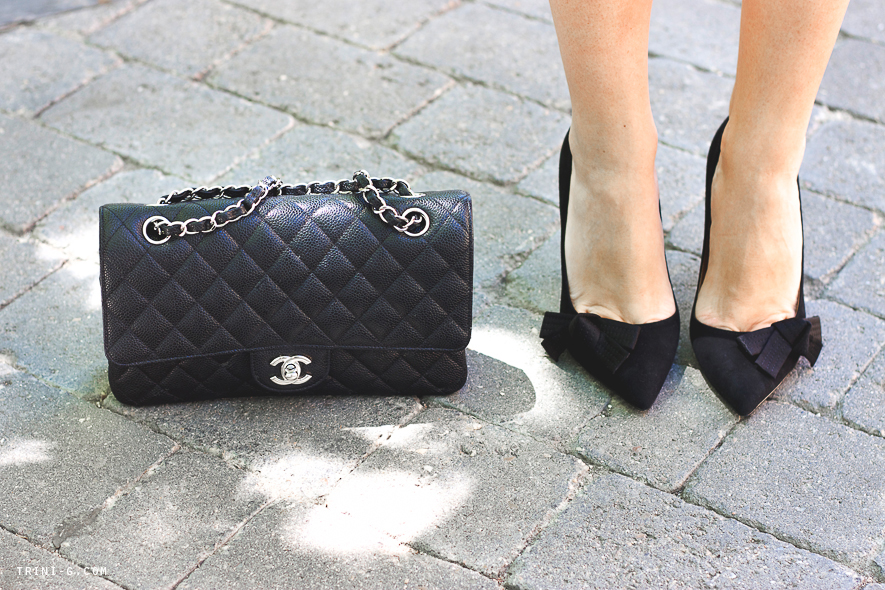 Chanel bag Isabel Marant heels Trini blog