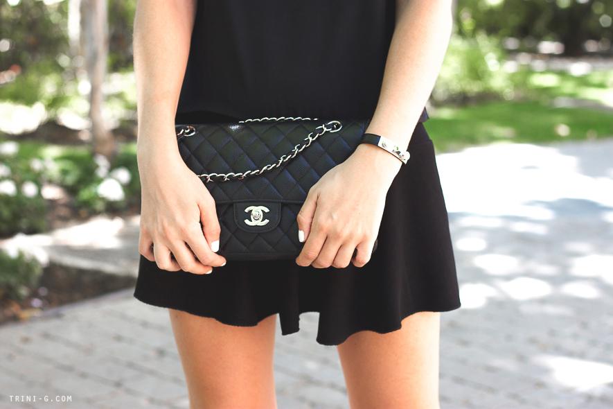 Chanel bag Saint Laurent bracelet Trini blog