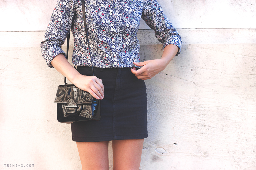 Blogger Trini J.Crew liberty shirt flower print