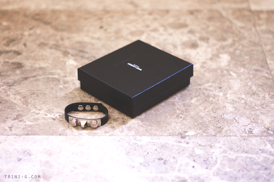 Saint Laurent leather silver bracelet  Trini blog