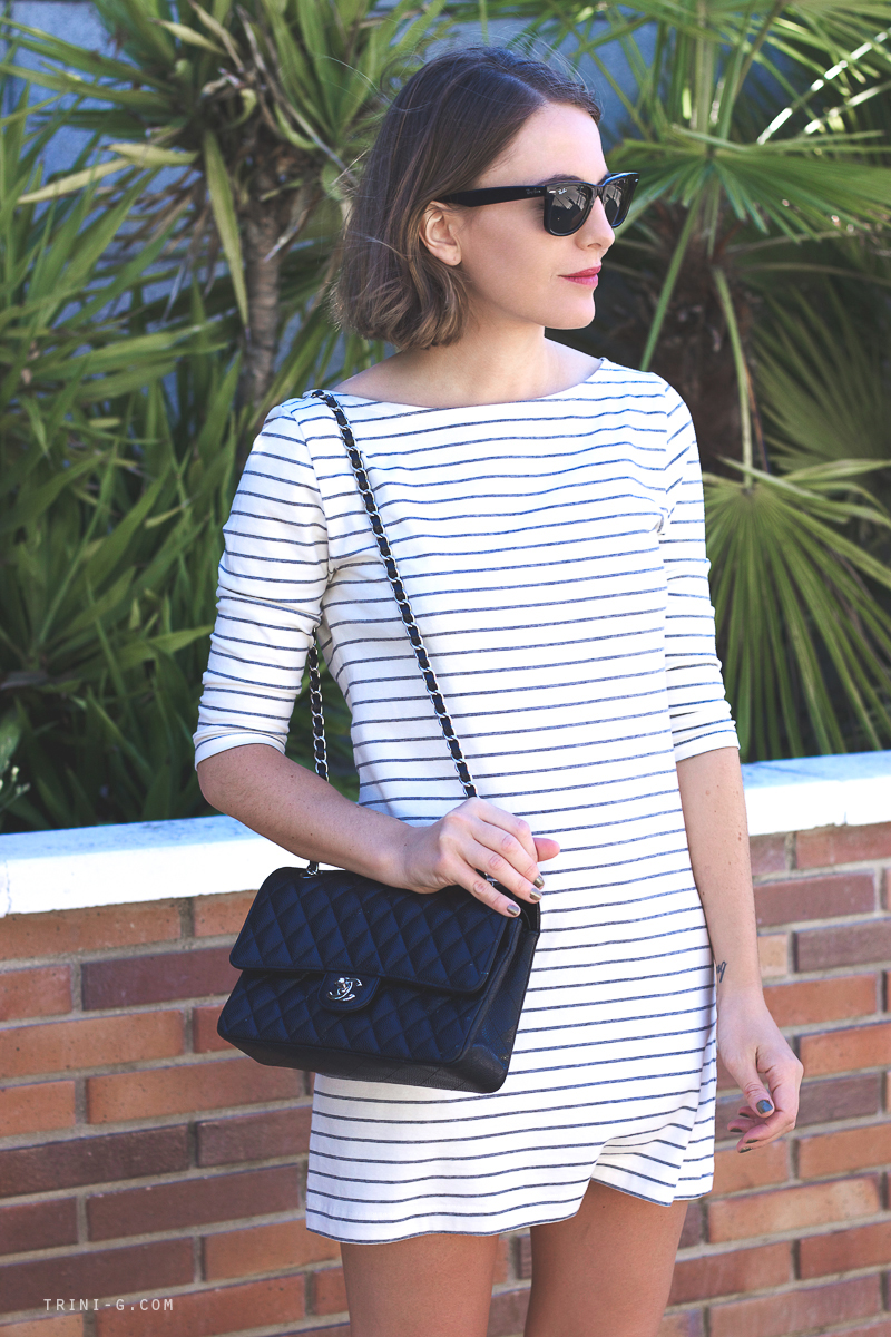 Fillipa K striped dress fashion blogger Trini