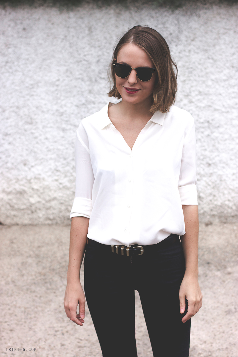 Fashion Blogger Trini White classic shirt