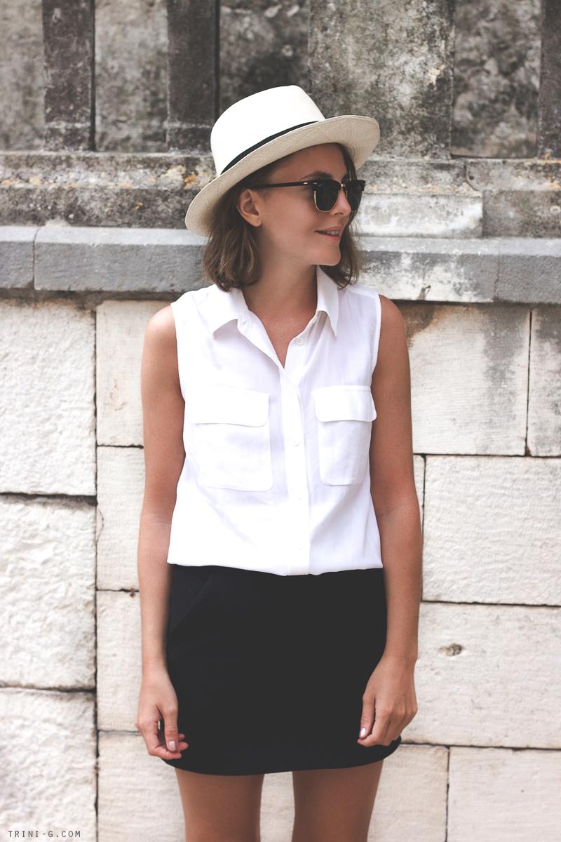 Fashion blogger Trini Equipment white shirt