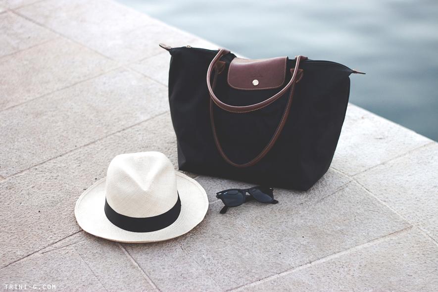 Longchamp Le Pliage J Crew Panama Hat Trini blog