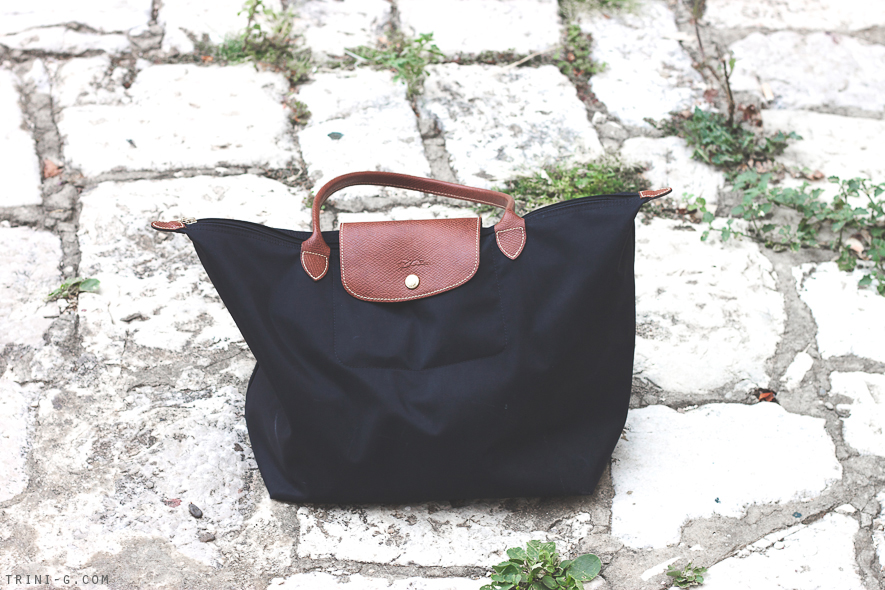 Trini blog Longchamp Le Pliage Tote Bag