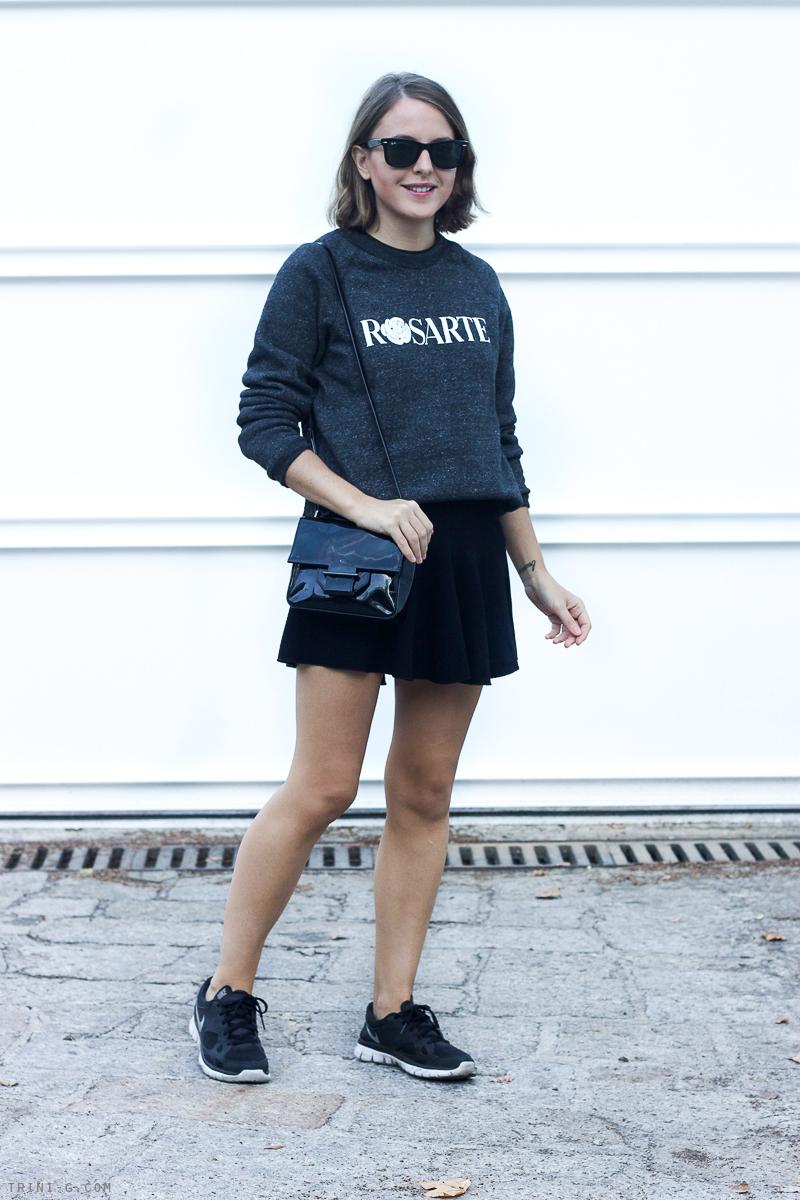 Trini blog | black Etoile Isabel Marant skirt Rodarte sweatshirt
