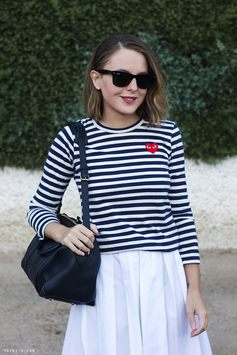 Trini blog | striped shirt navy white