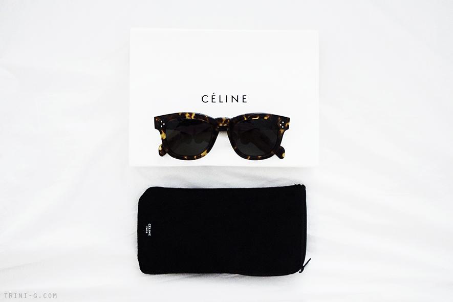Trini blog | Celine tailor tortoiseshell sunglasses