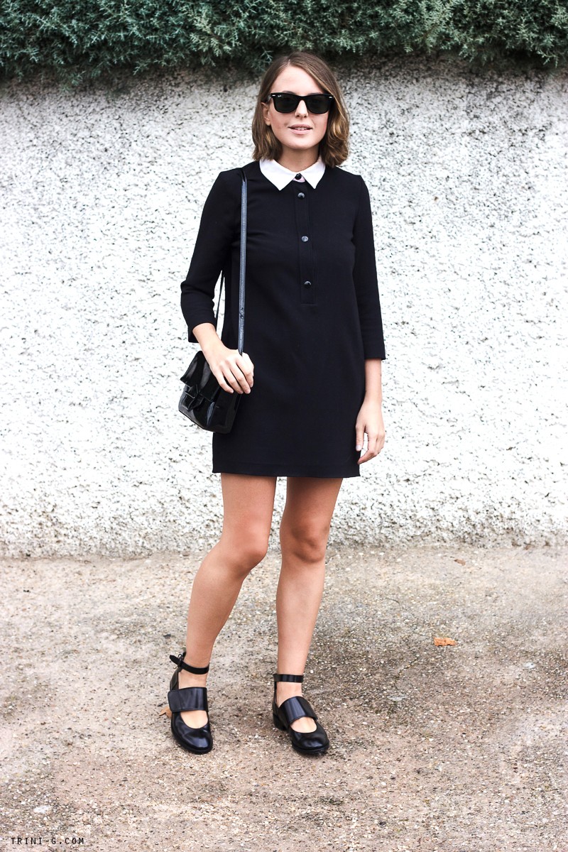 Trini blog | Acne Studios flats Sandro Paris dress