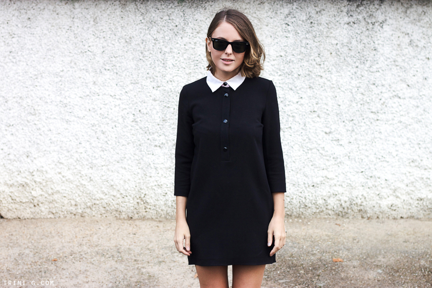 Trini blog | Sandro Paris black dress