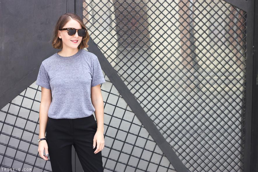 Trini | American Apparel grey tshirt