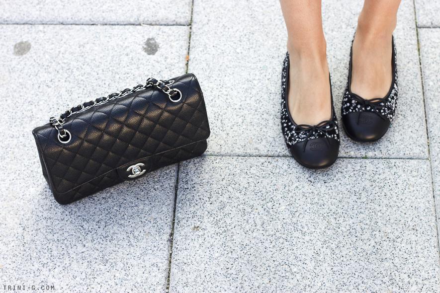 Trini   Chanel bag and flats