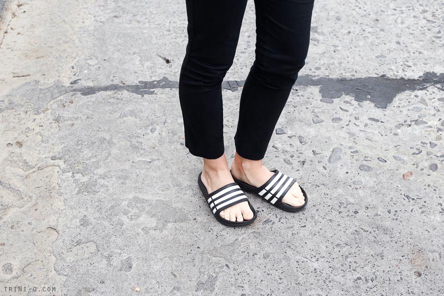 Trini   Adidas Duramo slides