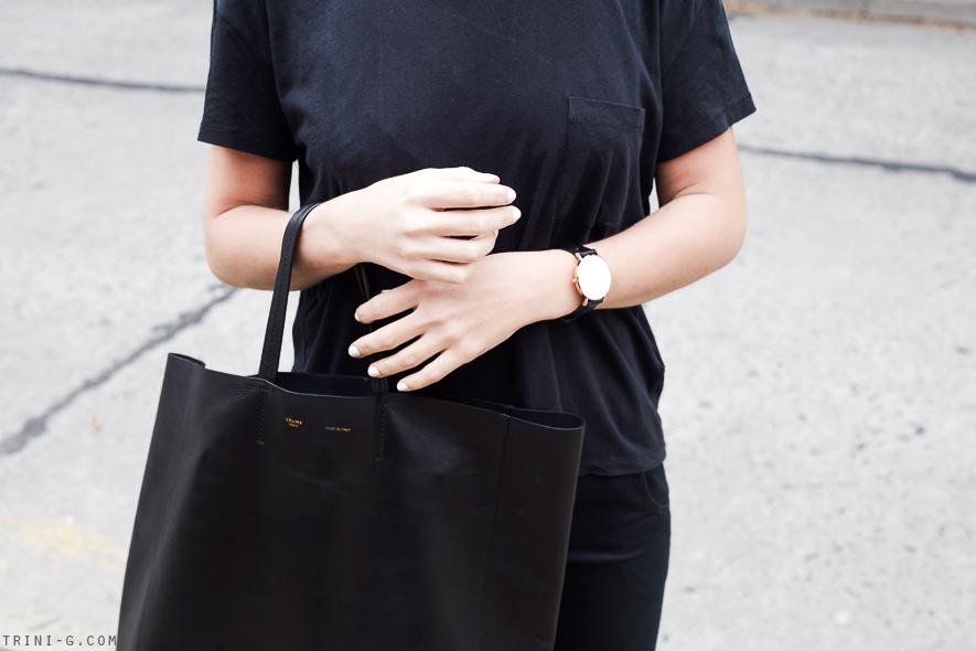 Trini   Celine black cabas bag