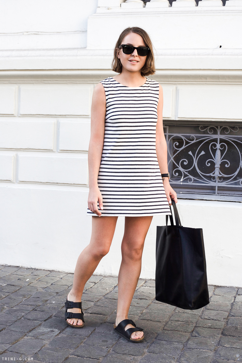 Trini | striped classic dress
