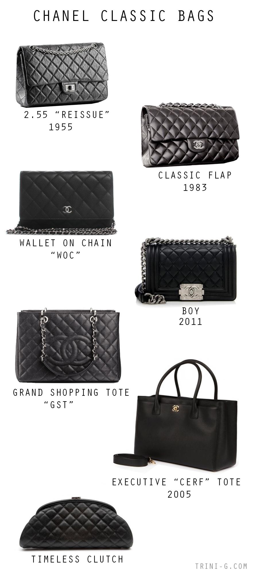 Trini blog| Chanel classic bags