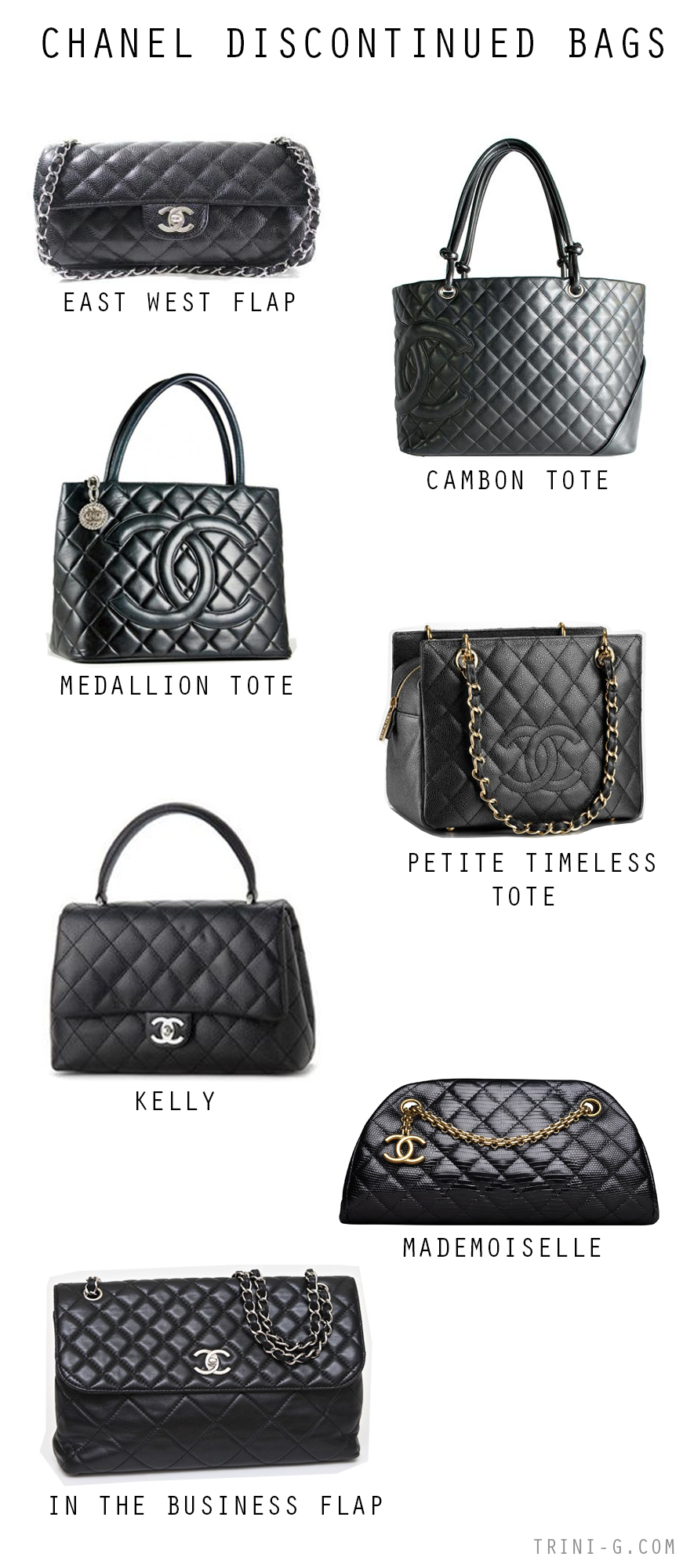 Trini blog| Chanel discontinued bags