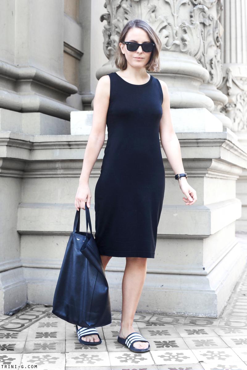 Trini | Gap black midi dress
