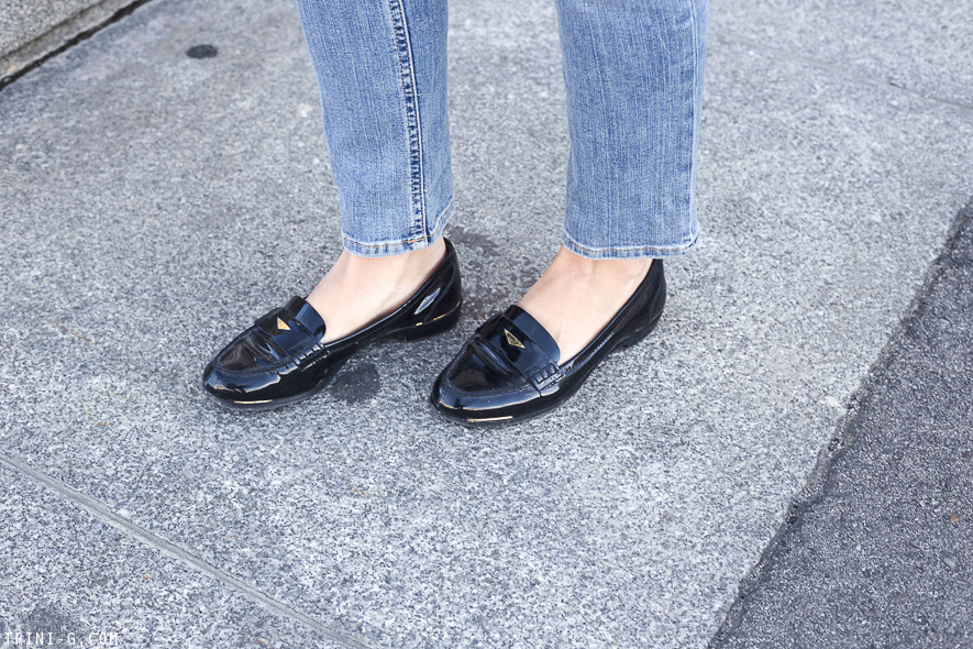 Trini | Miu Miu patent loafers