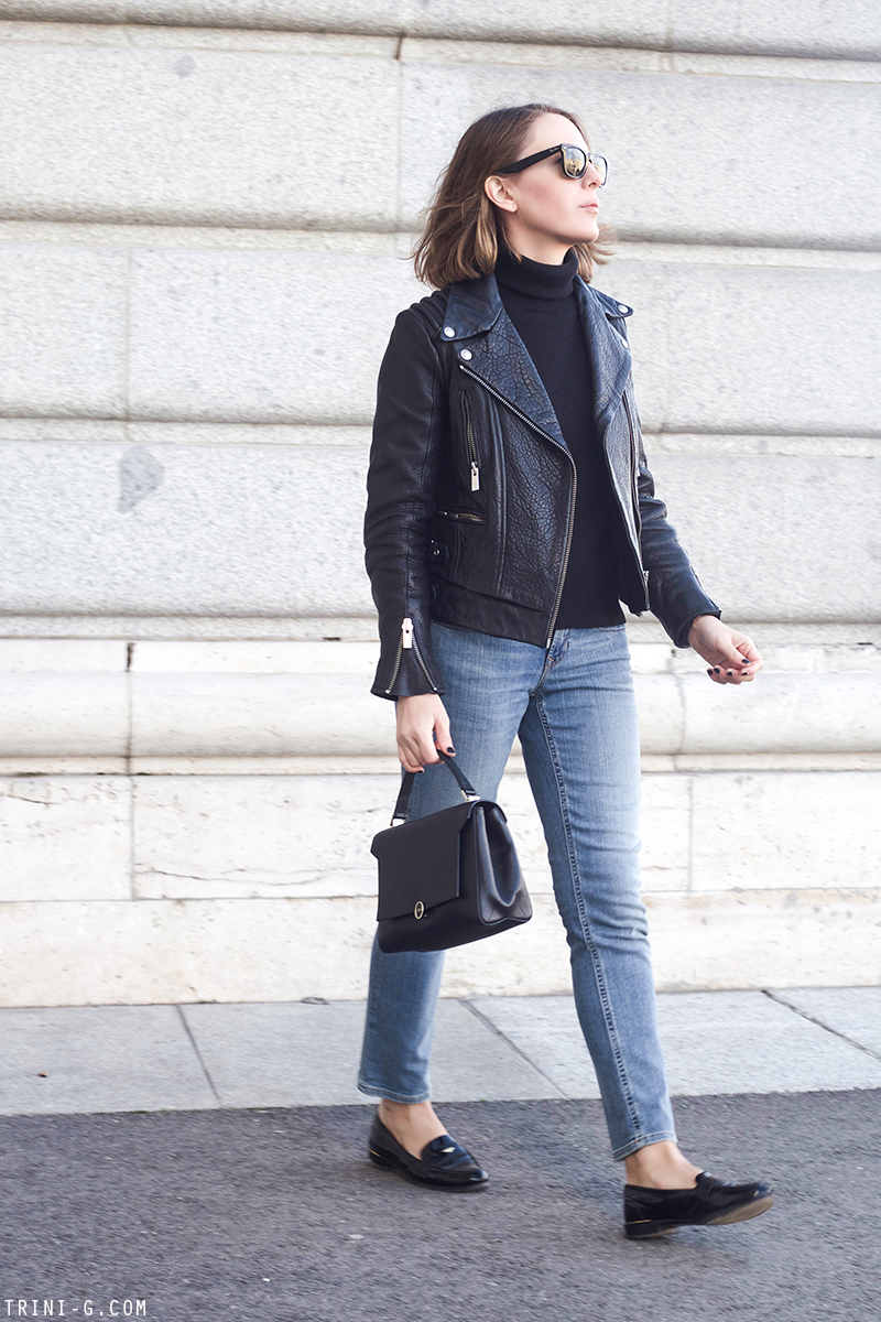 Trini | The Kooples black leather jacket